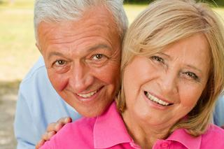 Older Couple Smiling | Norfolk MA Dentist