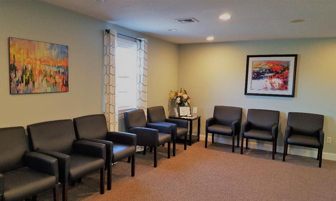 Waiting Room At Norfolk County Dental Care | Norfolk MA